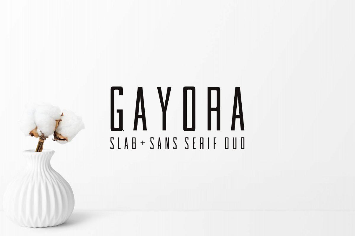 Gayora Slab Serif | Duo Font example image 1