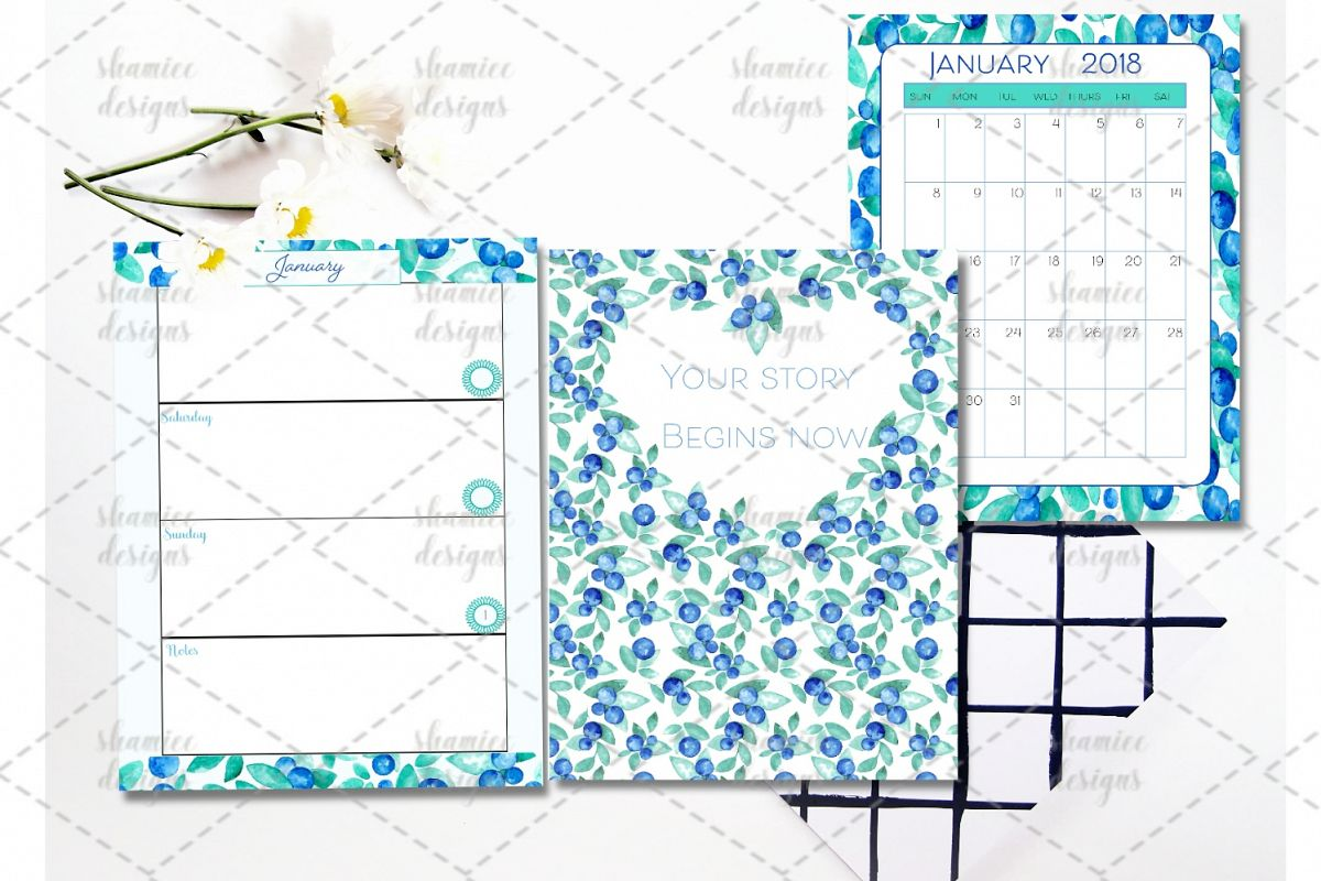 2018 Blueberry Planner example image 1