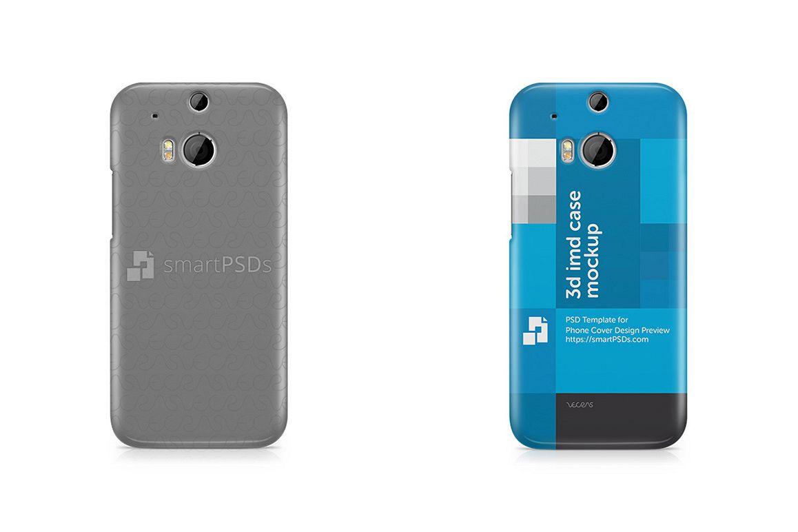 HTC ONE M8 3d IMD Mobile Case Design Mockup 2014 example image 1