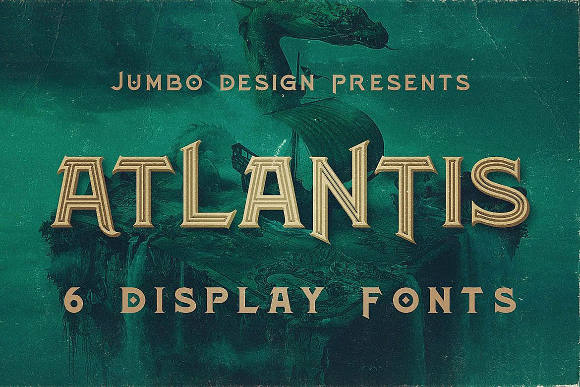Atlantis - Vintage Style Font example image 1