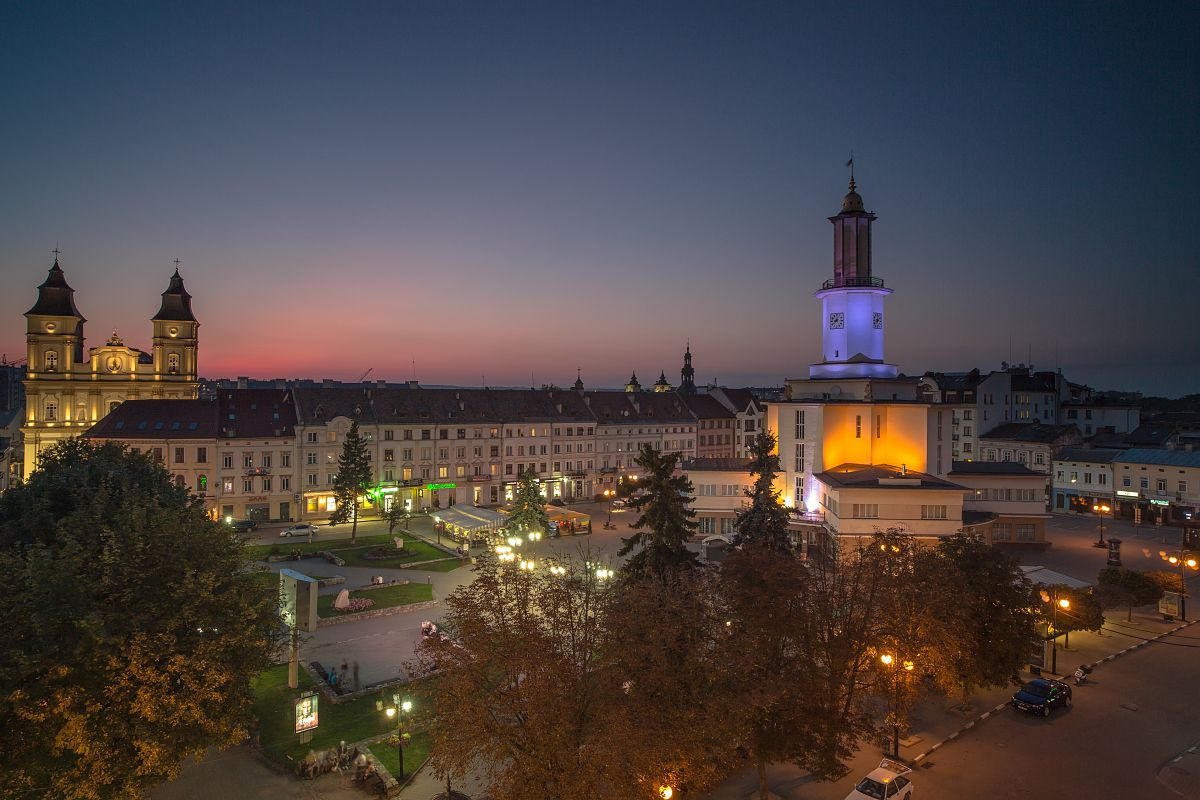 Old city in Ukraine during sunset example image 1