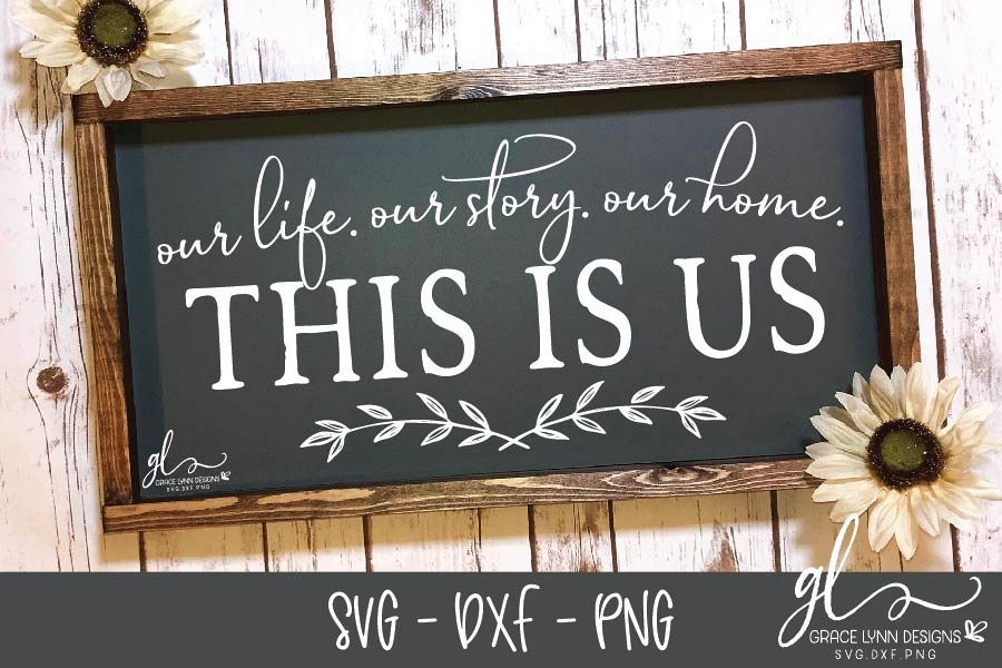 This Is Us - SVG Cutting File - SVG, DXF & PNG example image 1