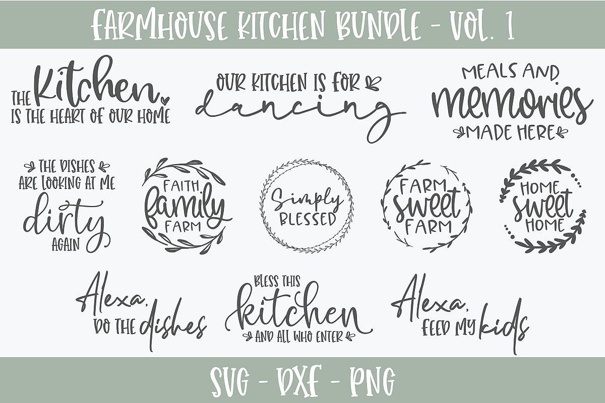 Farmhouse Kitchen Bundle - 11 Designs - SVG Cut Files example image 1
