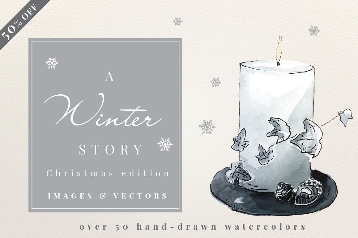 A Winter Story - Watercolors example image 1