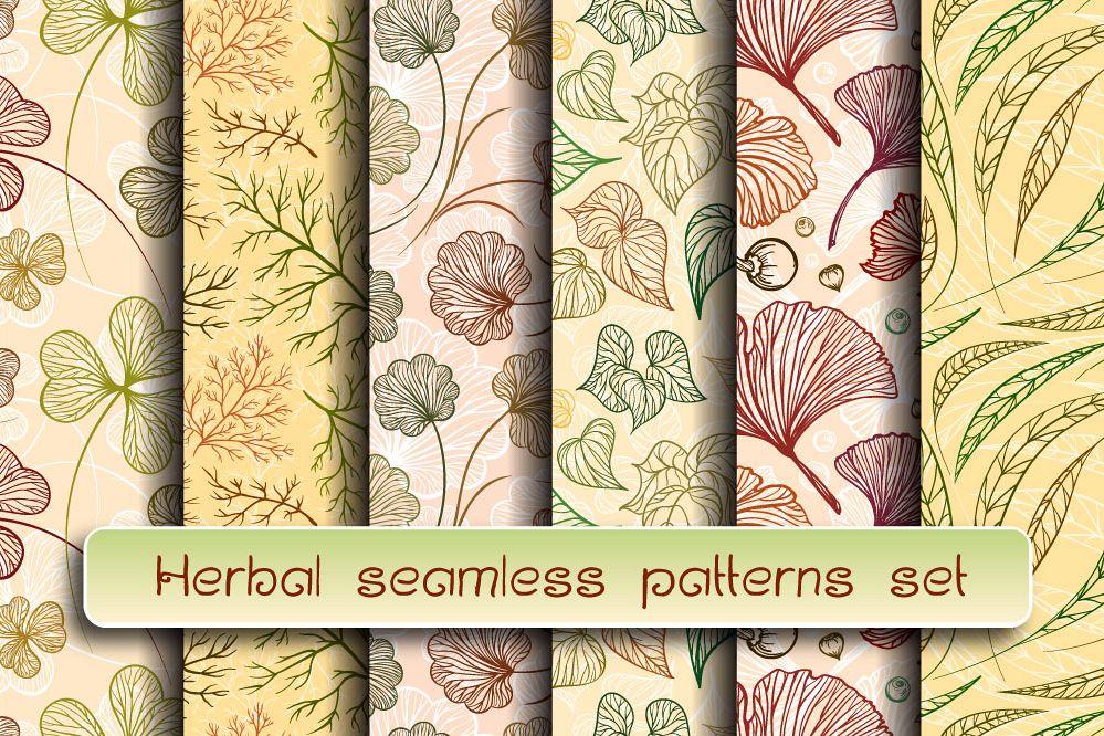 Herbal patterns set example image 1