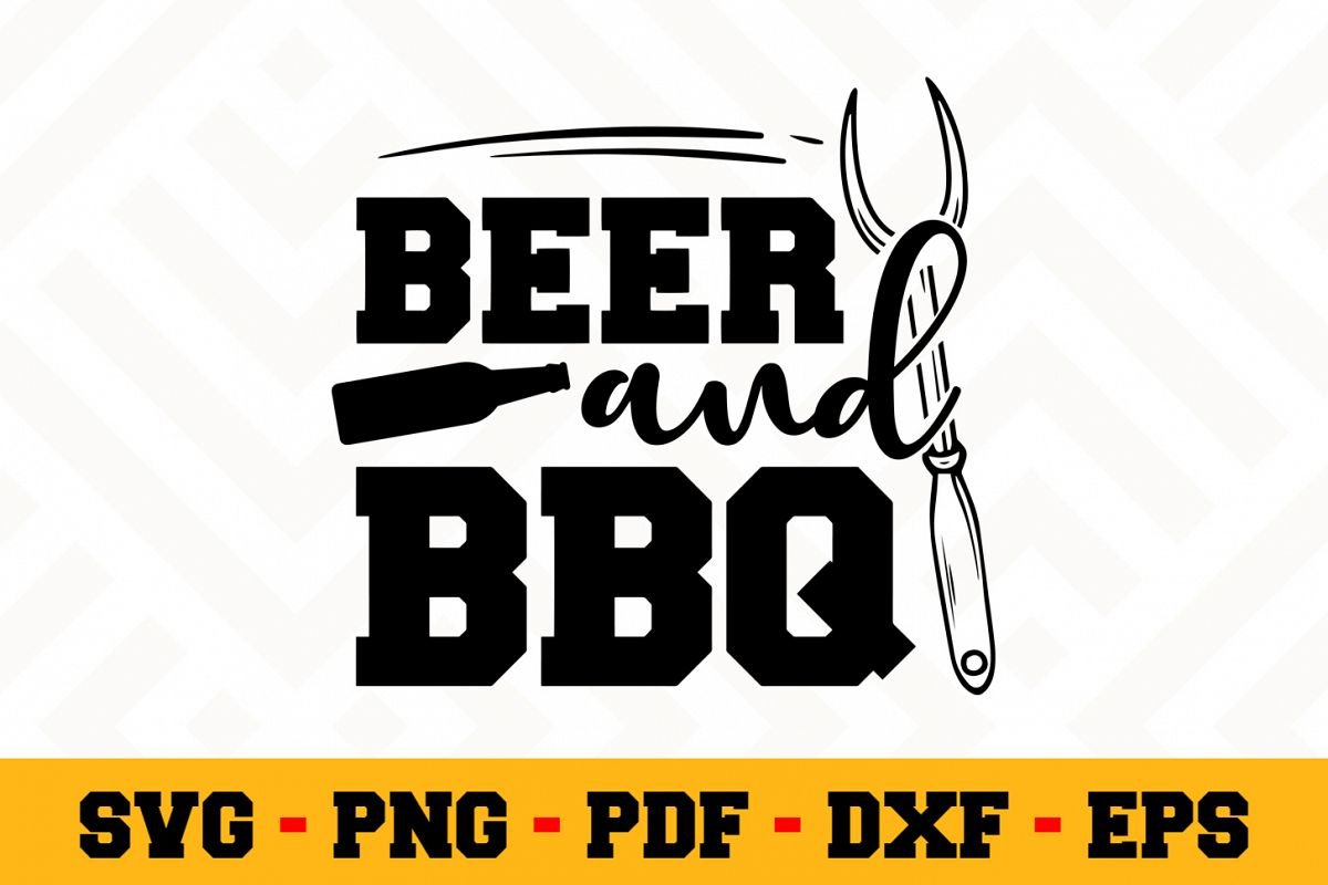 BBQ SVG Design n610 | Barbecue Grill SVG Cut File example image 1