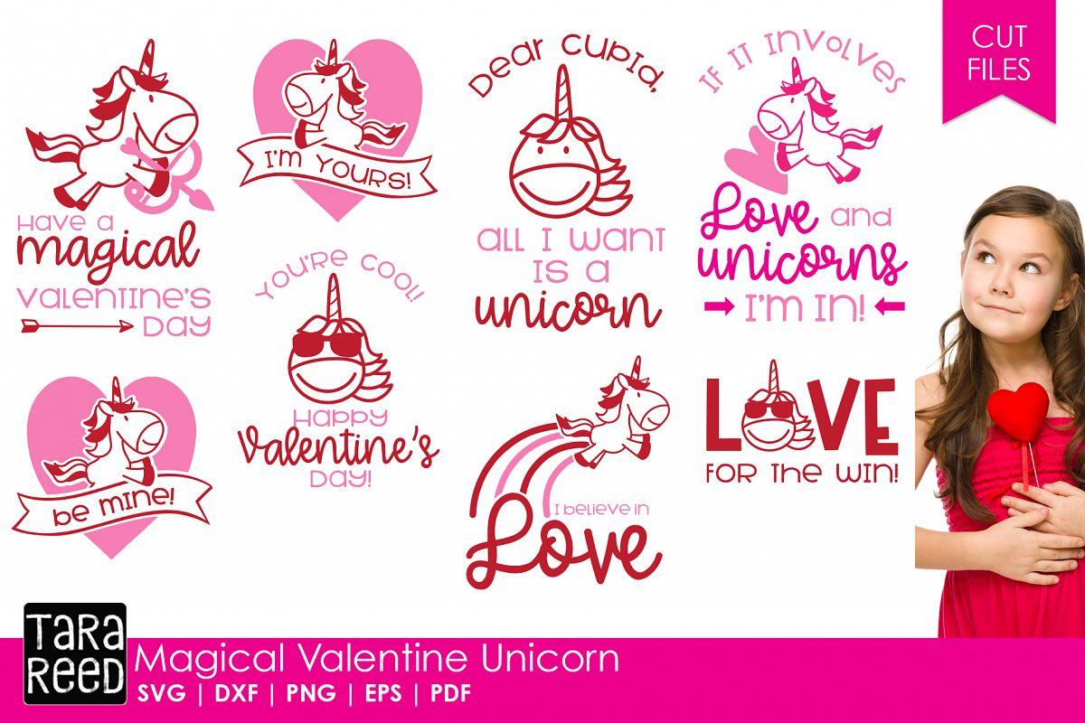 Magical Valentine Unicorn Valentine S Day Svg Files