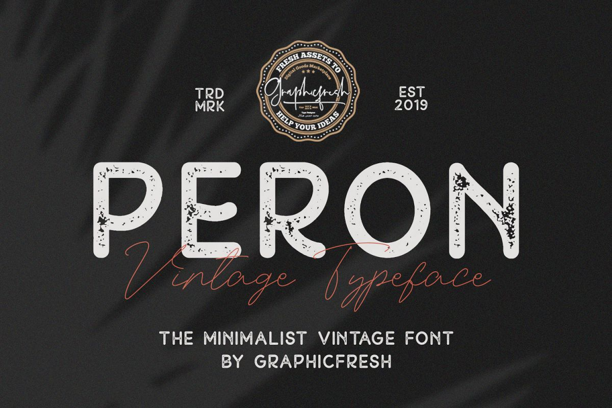 Peron - Modern Vintage | 4 Fonts example image 1