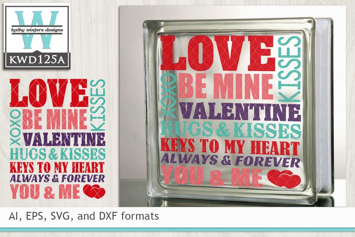 Valentines Svg Subway Art 11843 Cut Files Design Bundles