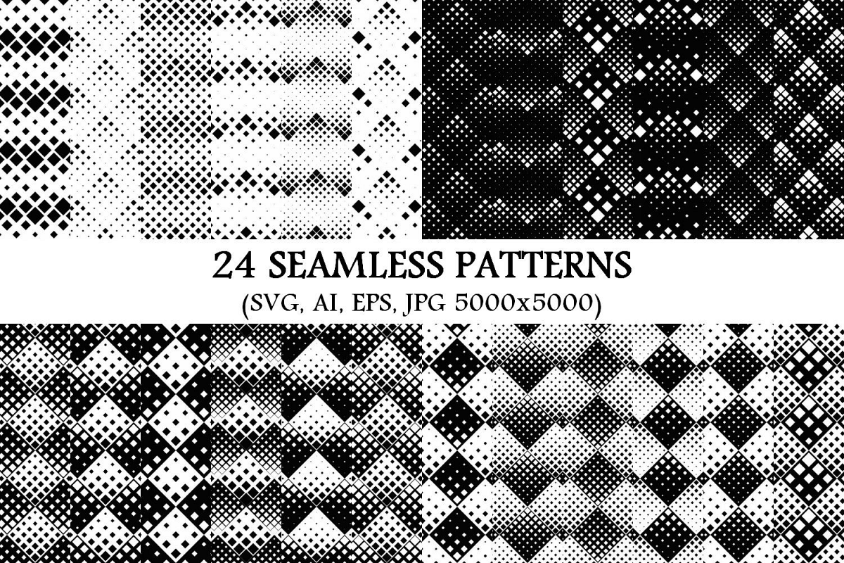 24 Seamless Square Patterns example image 1