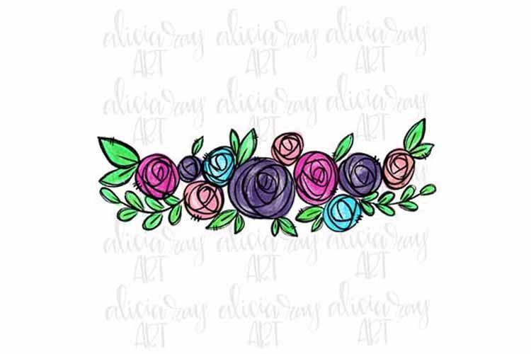 Floral Bundle - Pink, Purple, Blue example image 1