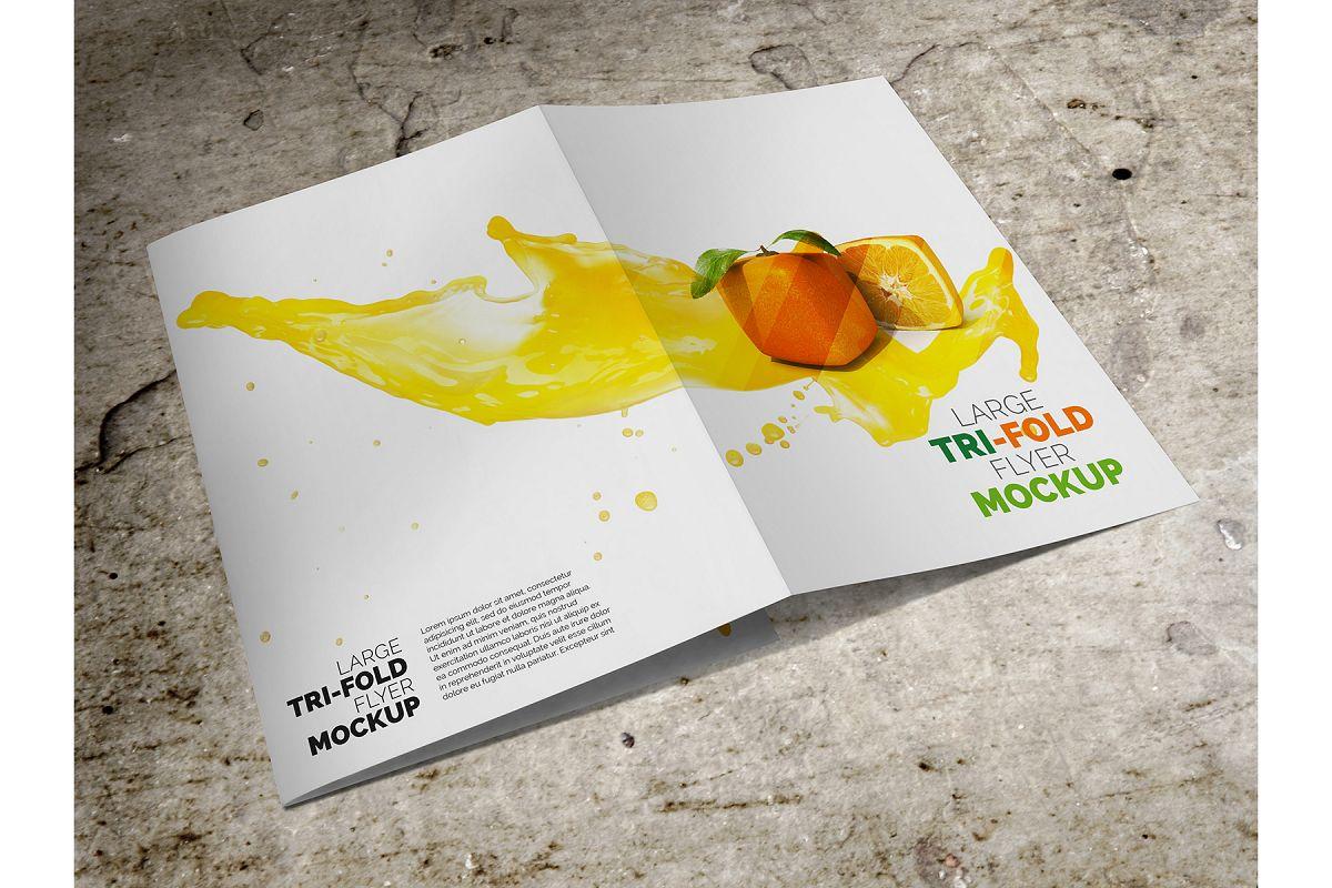 Large Trifold Brochure Mockup example image 1