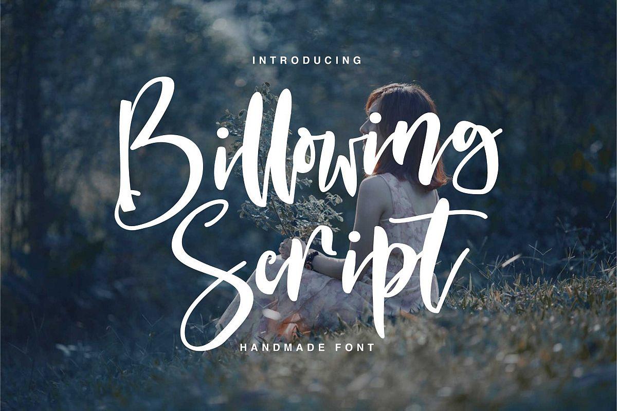 Billowing Script example image 1