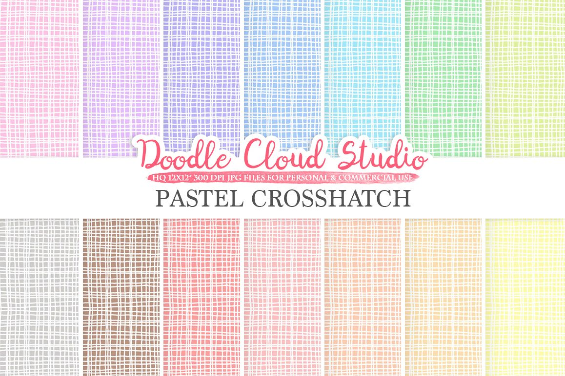 Pastel Crosshatch digital paper, Crosshatch pattern, Digital Crosshatch, pastel background, Instant Download for Personal & Commercial Use example image 1