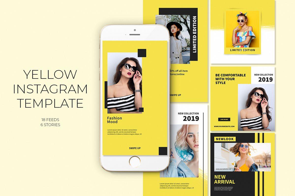 Yellow Instagram Templates example image 1