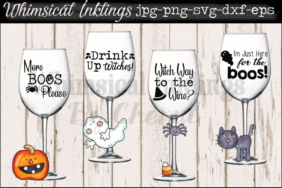 More Boos~ Halloween Wine and Cocktail SVG Files example image 1