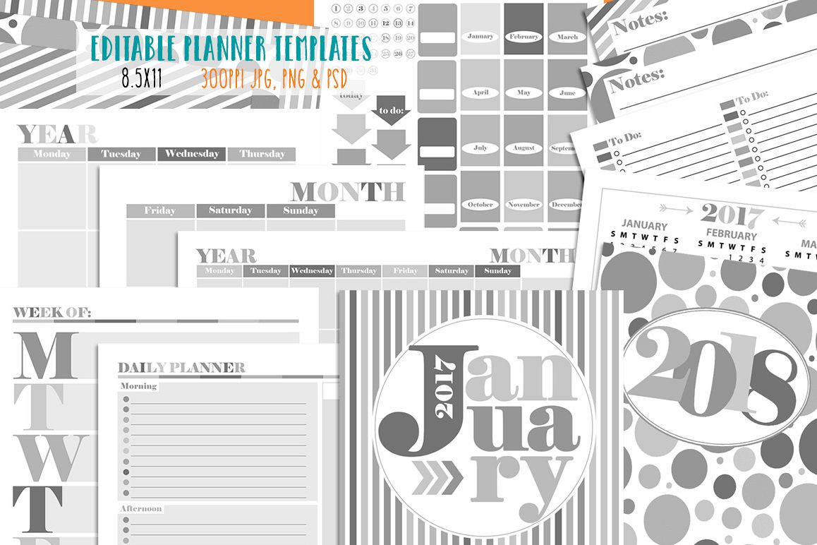 Customizable Planner Templates example image 1