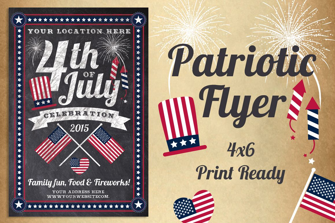 chalk america patriotic flyer