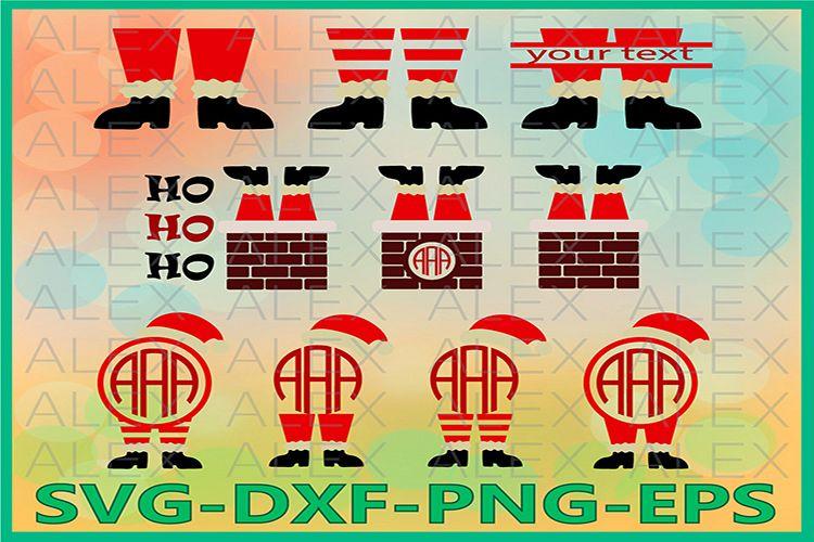 Santa In The Chimney, Christmas Svg, Santa Svg, Santa Legs example image 1