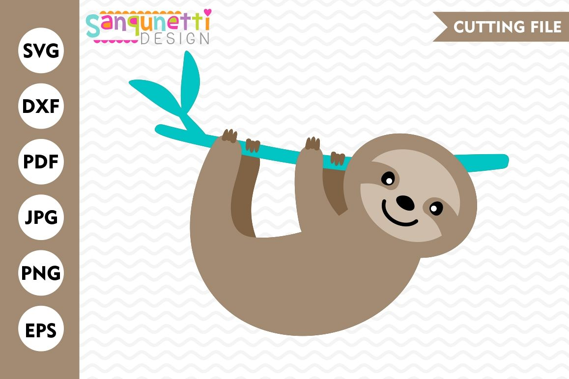 Sloth SVG, Sloth cutting file, cut file, DXF, EPS example image 1