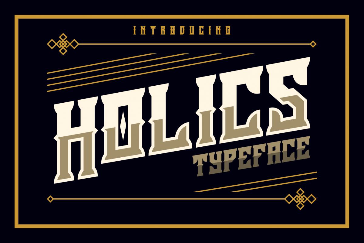Holics Typeface example image 1
