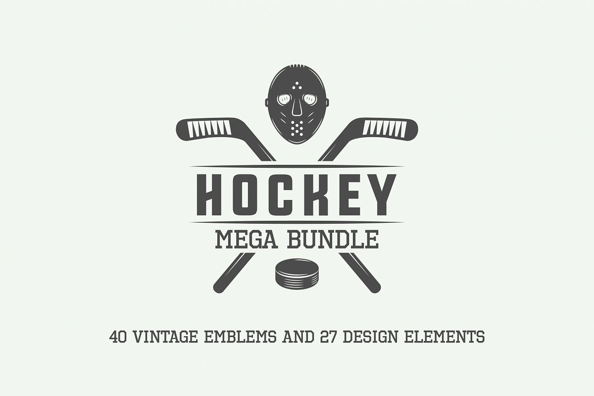 Vintage Hockey Emblems Bundle example image 1