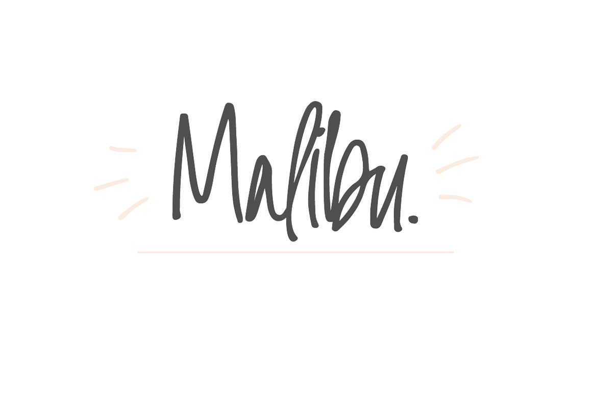 Malibu | Handwritten Font + Extras example image 1
