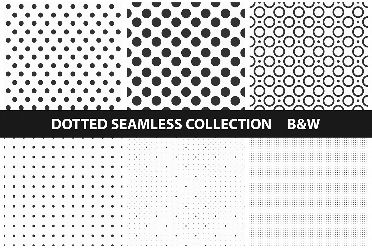 Dotted Seamless Patterns example image 1