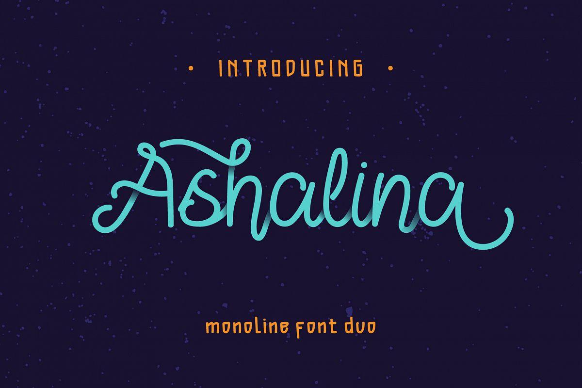 Ashalina Duo Font example image 1