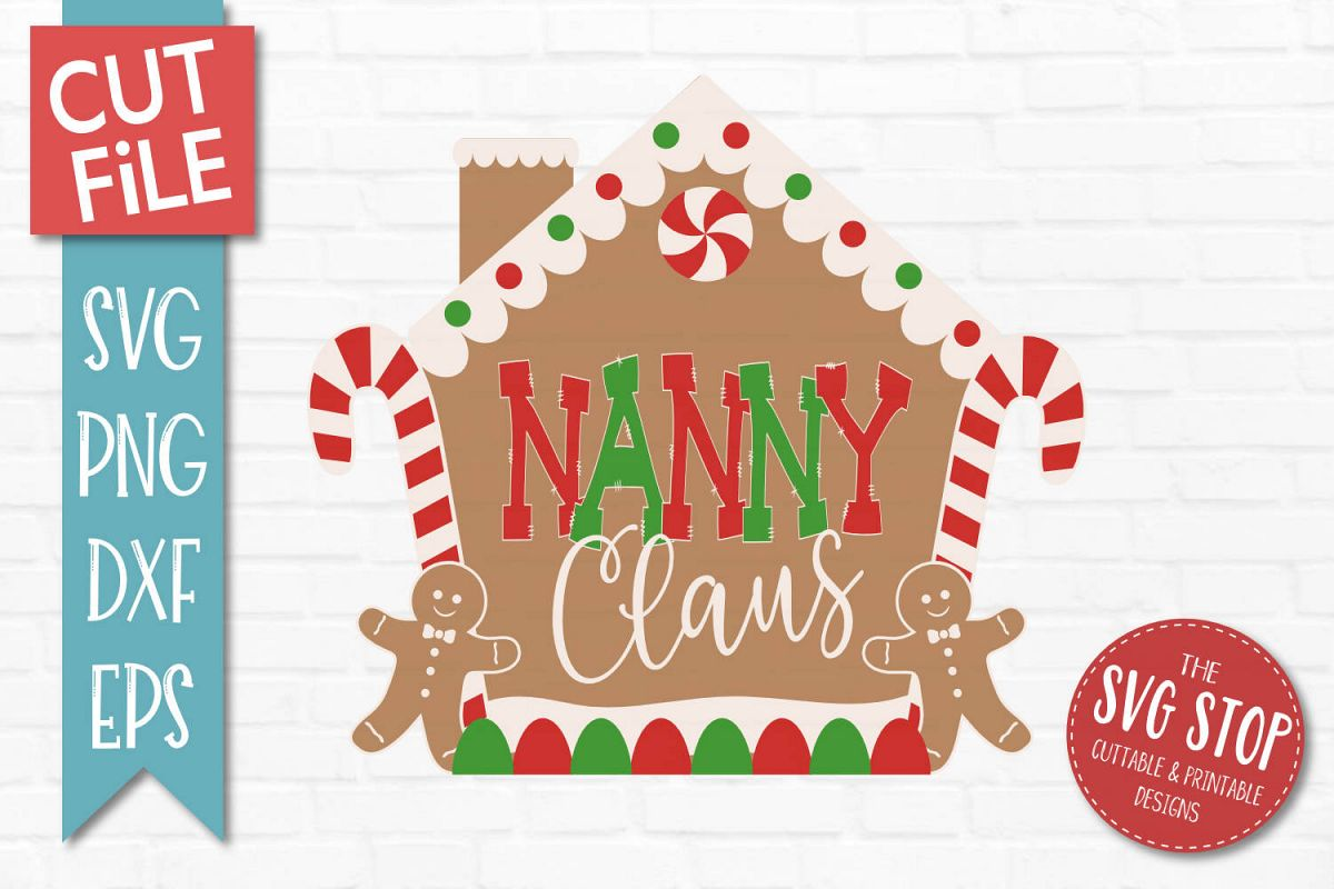 Nanny Claus Gingerbread Christmas SVG, PNG, DXF, EPS example image 1
