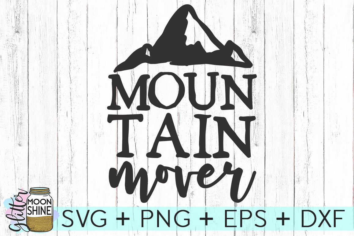 Mountain Mover SVG DXF PNG EPS Cutting Files example image 1