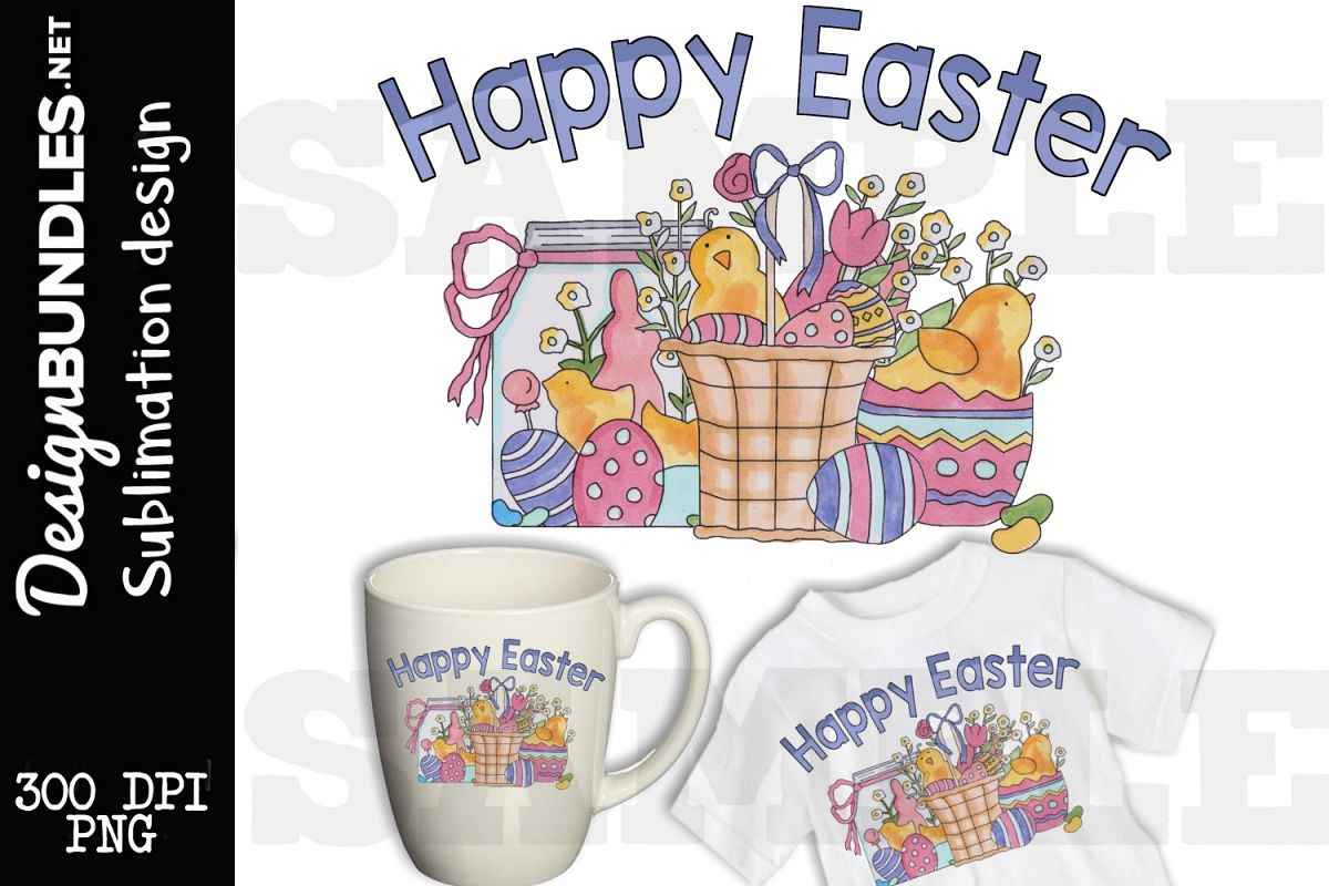 Happy Easter Sublimation Design example image 1