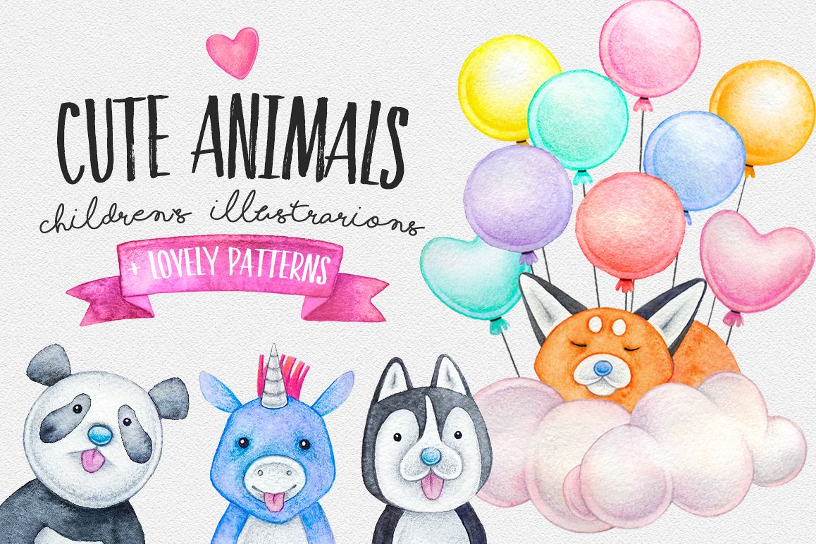 CUTE ANIMALS collection BABY SHOWER example image 1