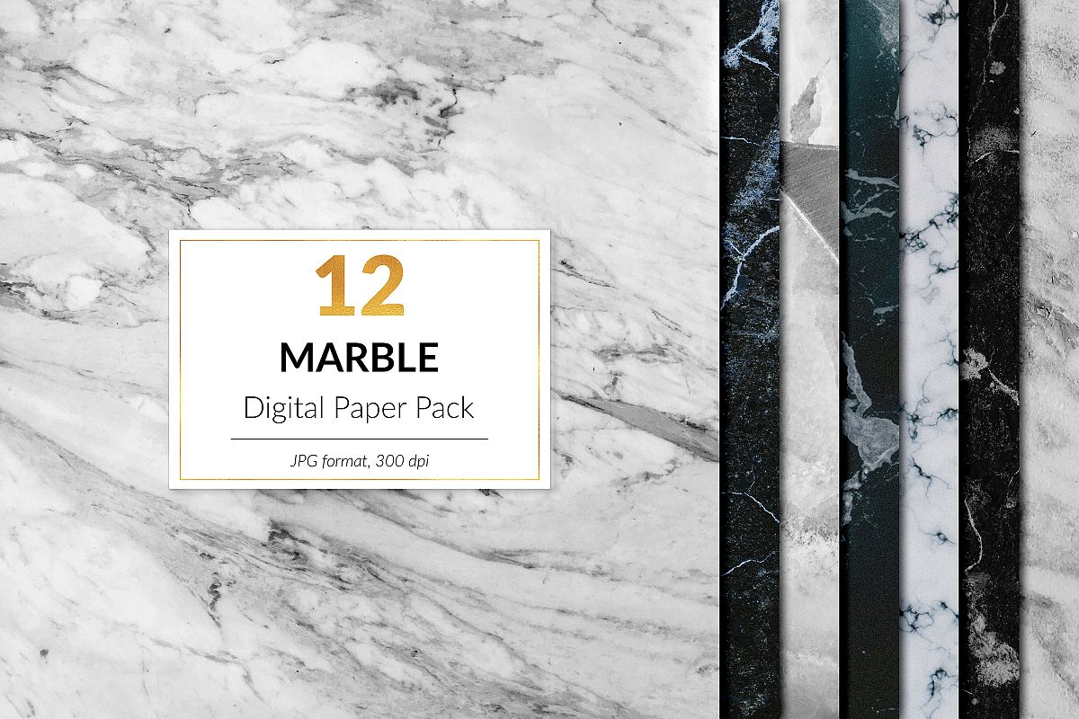 Black And White Marble example image 1