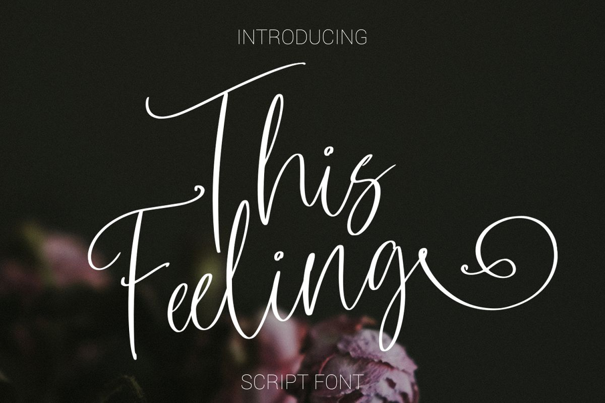 This Feeling Script Font example image 1