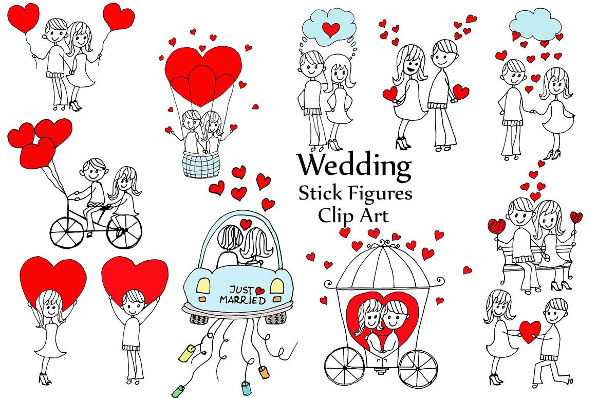 Stick Figure Wedding Invitations: Wedding Stick Figure Clip Art