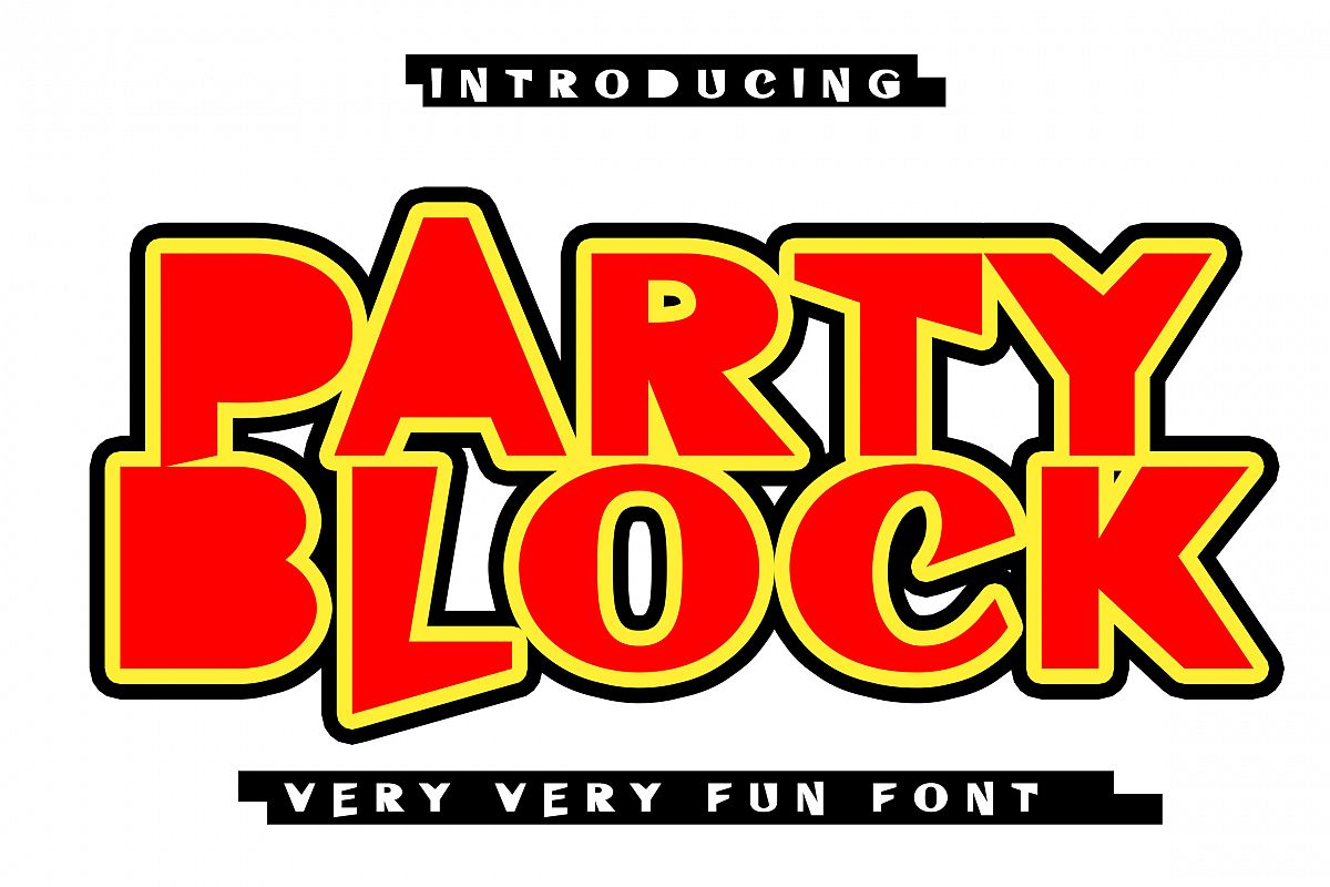 Party Block Fun Font example image 1