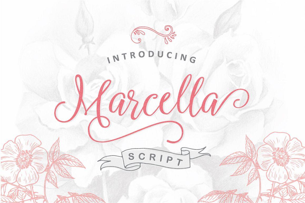 Marcella Script example image 1