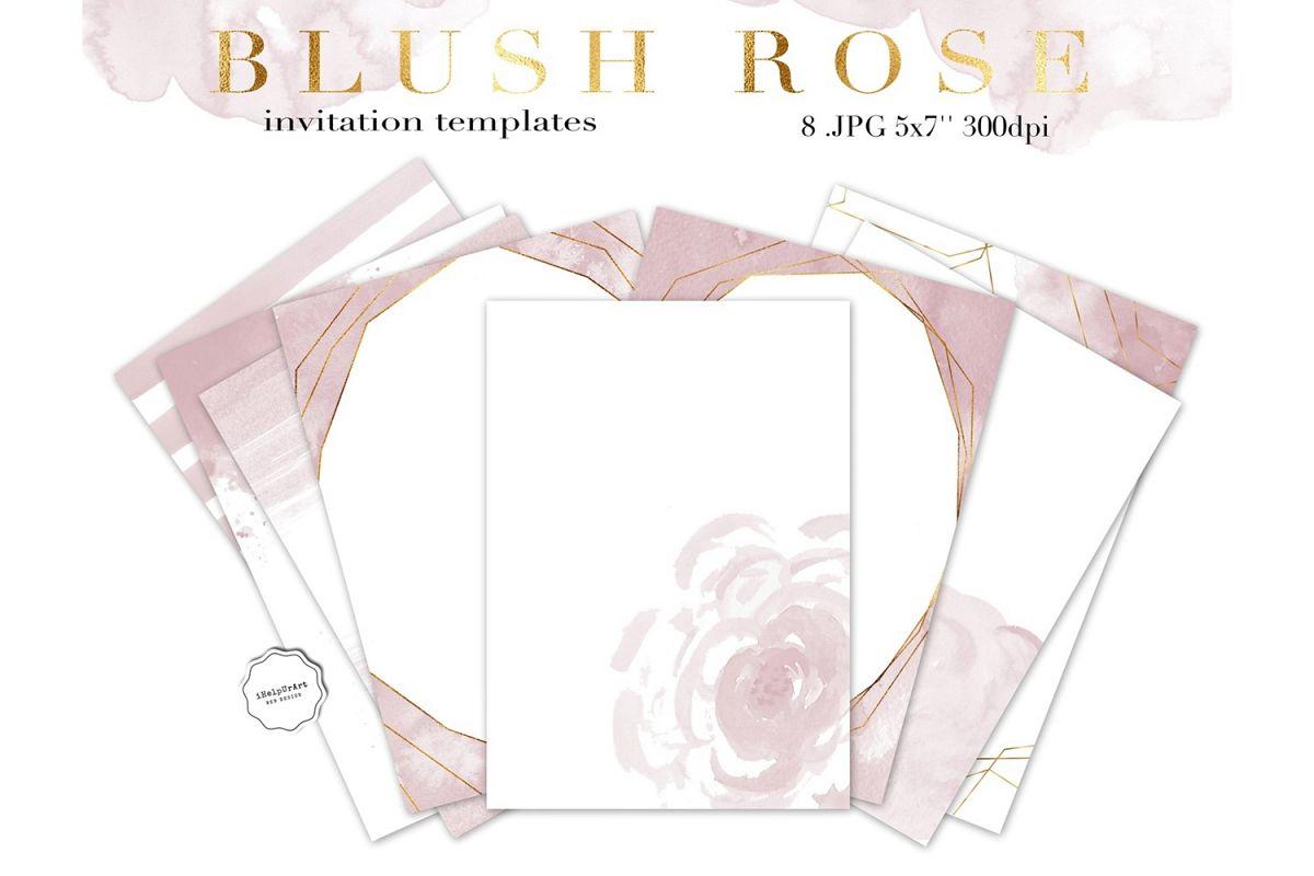 Blush pink watercolor invitation templa design bundles blush pink watercolor invitation template example image stopboris Gallery