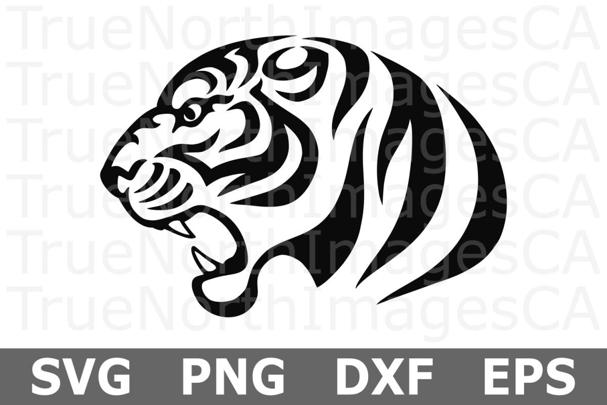 Tribal Tiger - An Animal SVG Cut File example image 1