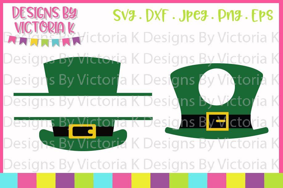 St Patrick's Day svg, Leprechaun Hat, Monogram, SVG, DXF example image 1