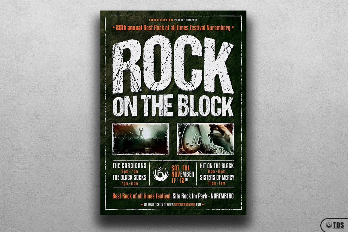 Rock Festival Flyer Template V1 example image 1