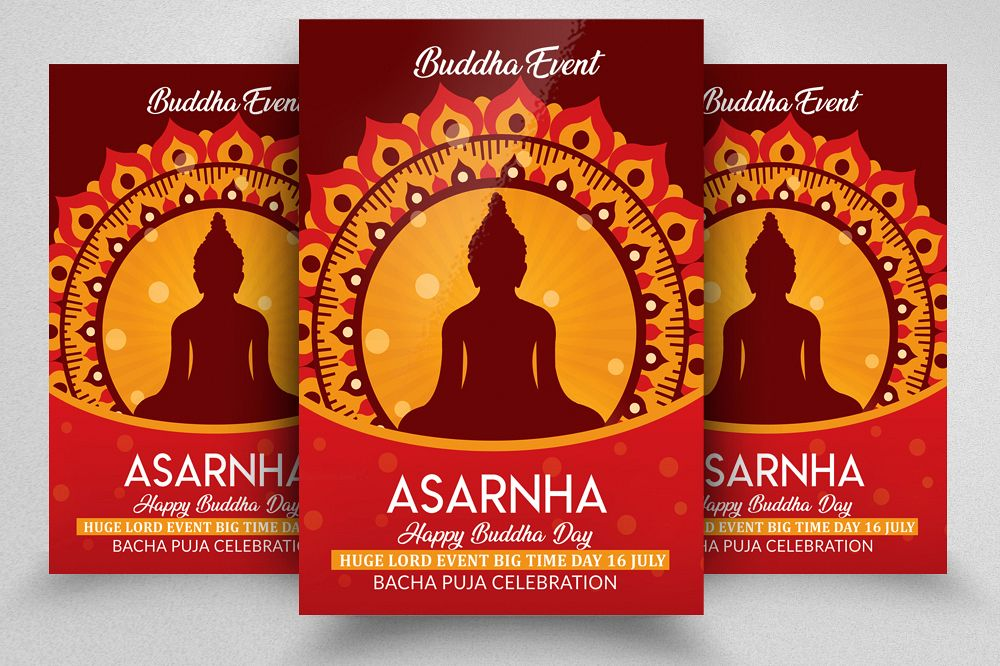Buddha Worship Flyer Template example image 1