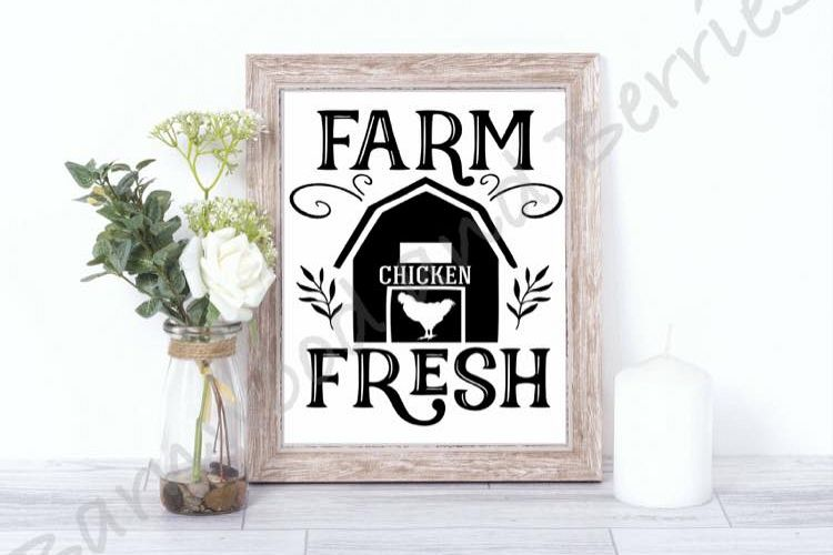 Farm Fresh Chicken SVG example image 1
