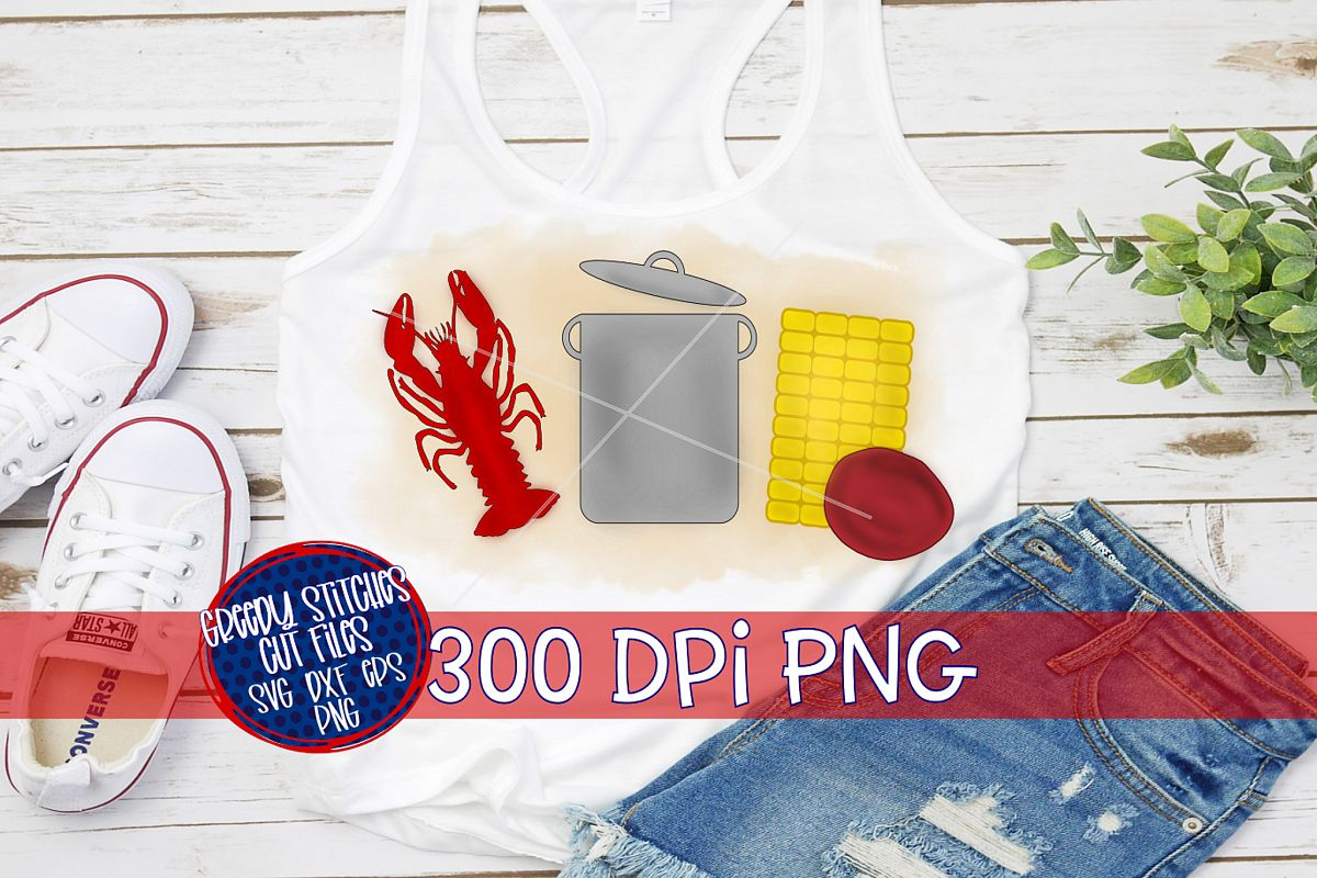 Watercolor Crawfish Boil Set PNG For Sublimation example image 1