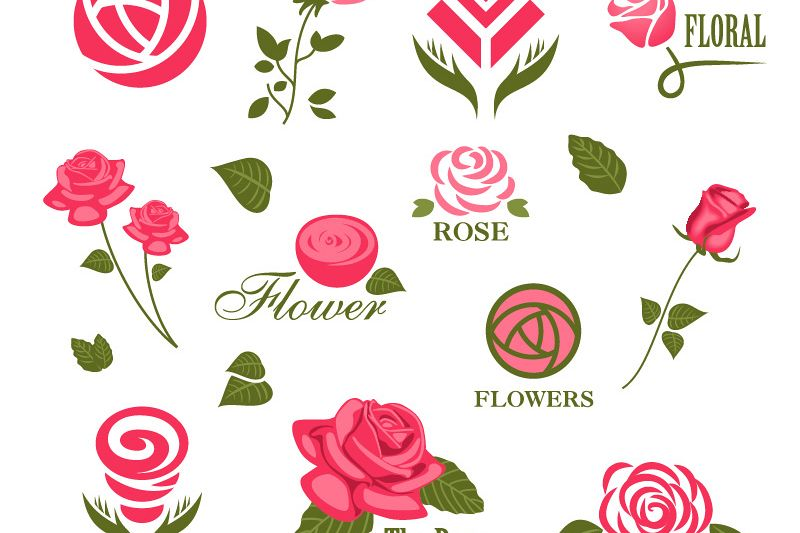 Rose svg - Rose svg files - Rose clipart - Rose digital- files download svg, png, eps, jpg  example image 1