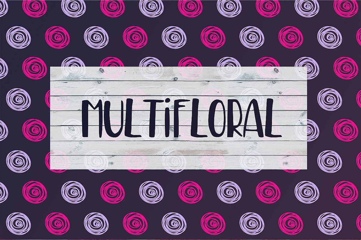 MultiFloral summer font example image 1