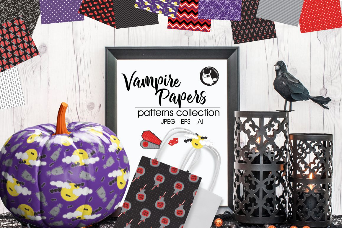 VAMPIRE-PAPERS, digital papers example image 1