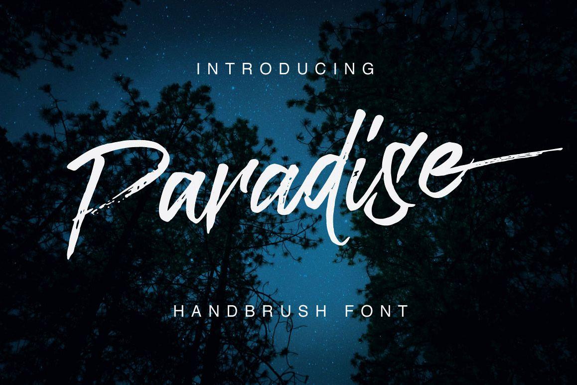 Paradise Typeface example image