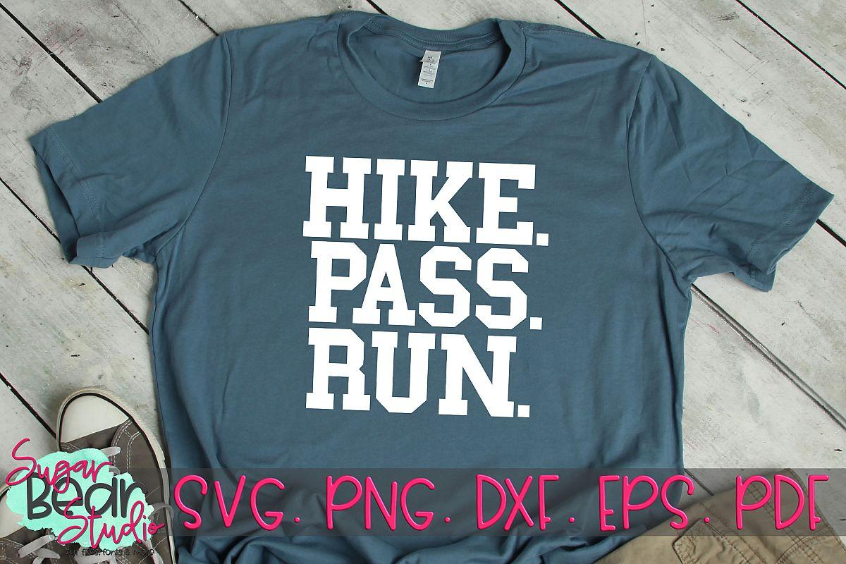 Hike Pass Run - A Football SVG example image 1